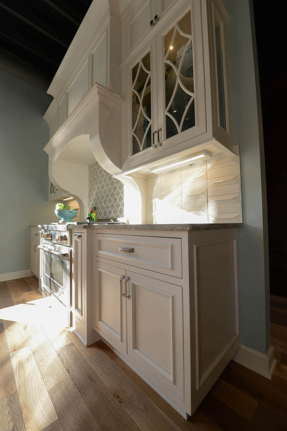 White Cabinet Counter Space
